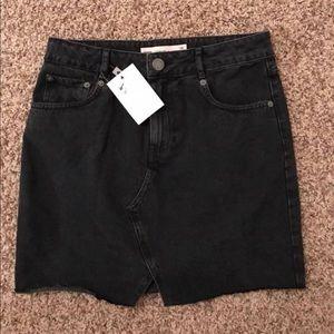 ASOS black denim skirt!